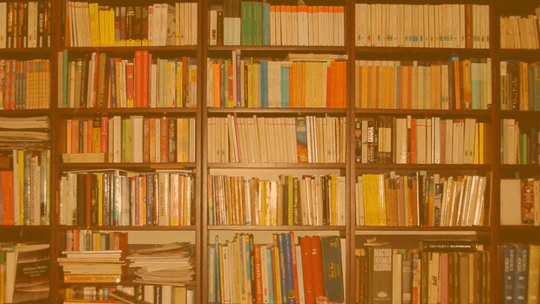 On The bookshelves
