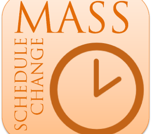 Tuesday Mass Time Change